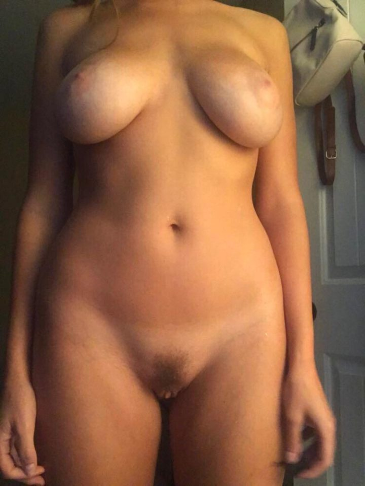When I get turned on my clit sticks out a little. Hehe (f)